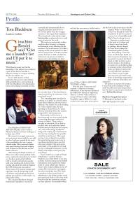 Tom Blackburn profile in 'Kensington & Chelsea Today' Dec 2011